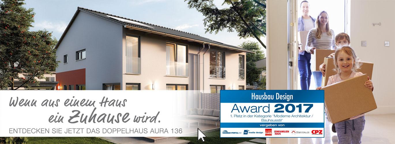 hausbau design award 2017 doppelhaus aura 136 von town country haus siegt in der kategorie. Black Bedroom Furniture Sets. Home Design Ideas
